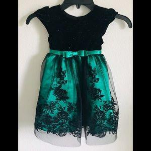 Jona Michelle Beautiful Black & Green 👗 Dress/2T
